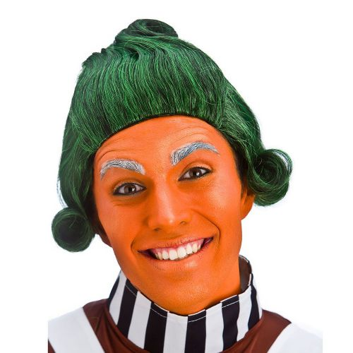 Fairytale Umpa Orange Man Factory Worker Wig Fairytale Make Believe Fancy Dress